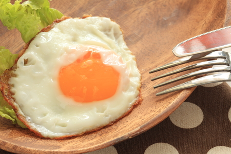 sunny side: sunny side up fried egg Stock Photo