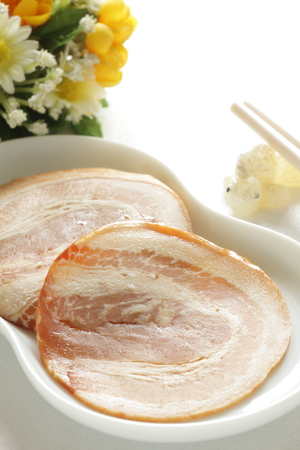 copys pace: Chinese food, roasted bacon pork Stock Photo