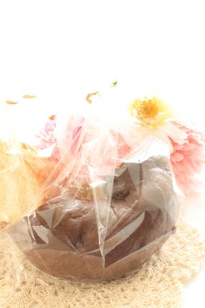 plastic bag: bagel in plastic bag