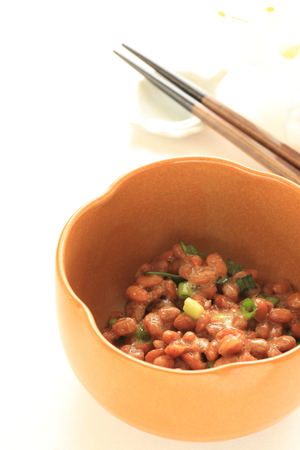 scallion: Japanese food, fermentation soy bean with scallion