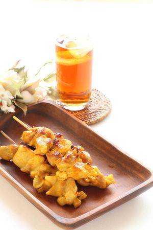 chicken satay: Indonesian food, chicken satay Stock Photo