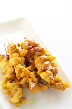 indonesian food: Indonesian food, chicken satay Stock Photo