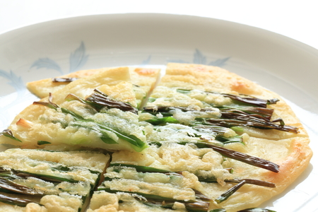scallion: korean pancake, jijim Stock Photo