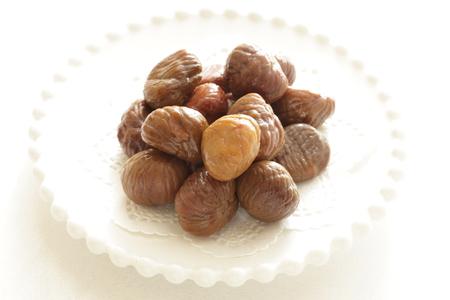 chinese food, roasted chestnut Stock Photo