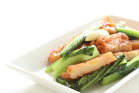 stir fried: fish cake and Komatsuna stir fried