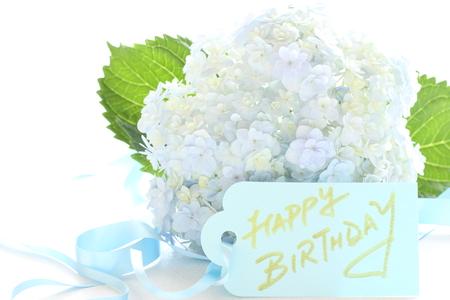アジサイと誕生日カード