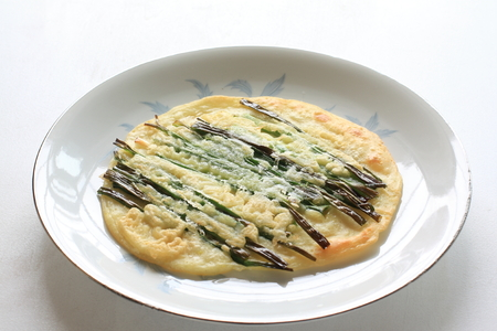 korean food: korean food, Jijim pan cake Stock Photo