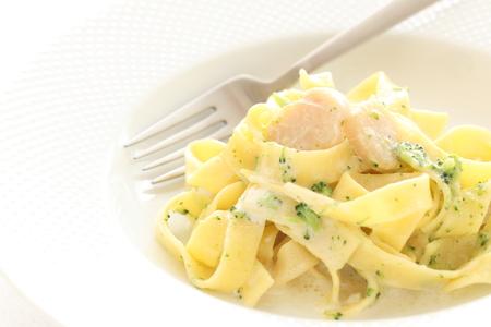 petoncle: cuisine italienne, p�toncle et fettuccine