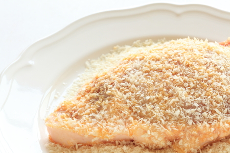 japanese cooking: Japanese cooking Tonkatsu pork and bread crumbs