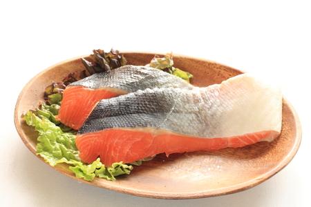 frescura: Pescados de color salm�n frescura en la placa