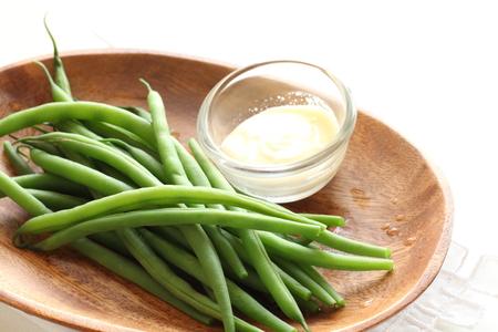 mayonesa: hervida frijol francés y mayonesa