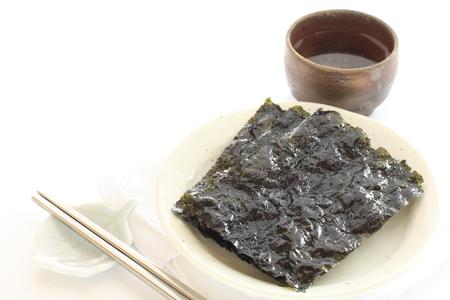korean food: Korean food, Gim seaweed sheet Stock Photo