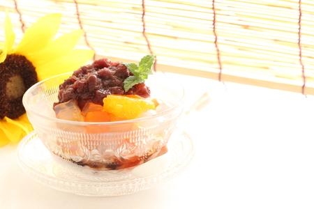 japanese dessert: Japanese dessert, kantan and azuki