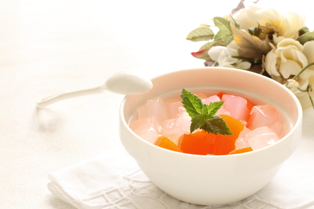 nata de coco and mixed fruit