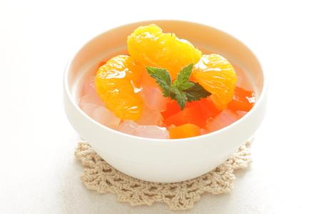 nata: nata de coco and mixed fruit