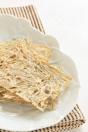 dried fish, pressed sardines for japanese food image