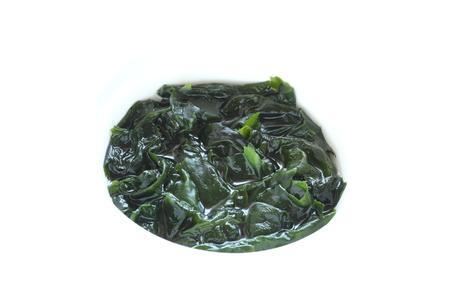 soaked: prepared seaweed soaked in water Stock Photo