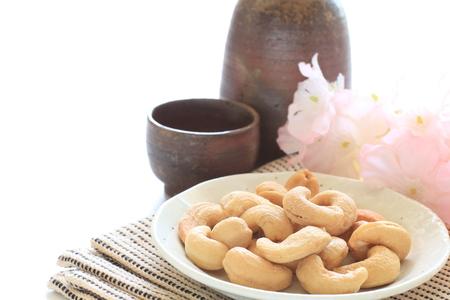 japanese sake: nueces de anacardo y el sake japon�s