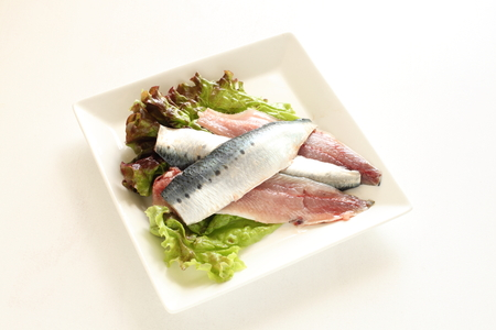 Japanisches Essen, Sardinen Filet Standard-Bild - 54487205