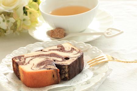 Chocolate marble pound cake Stock Photo