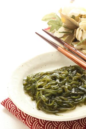 日本食、メカブ海藻酢添え 写真素材