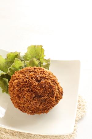 carne picada: La comida japonesa, carne picada Koroke croqueta