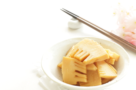 Japanese food, simmered bamboo shoots