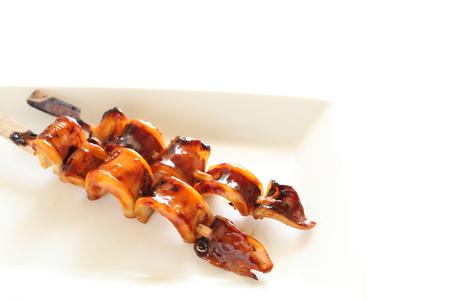 teriyaki: Japanese food, grilled teriyaki squid