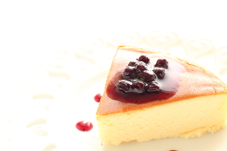 blue berry: Baked cheese cake with blue berry