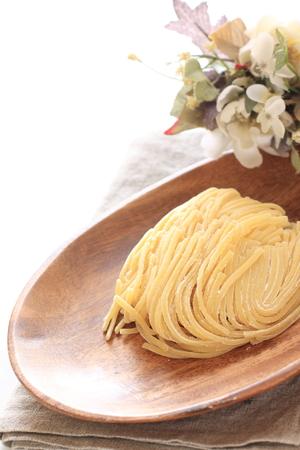 raw: raw spaghetti Stock Photo