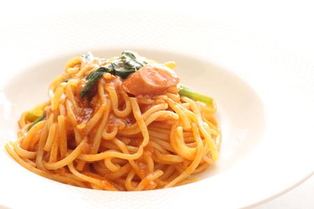ketchup: sausage and ketchup spaghetti