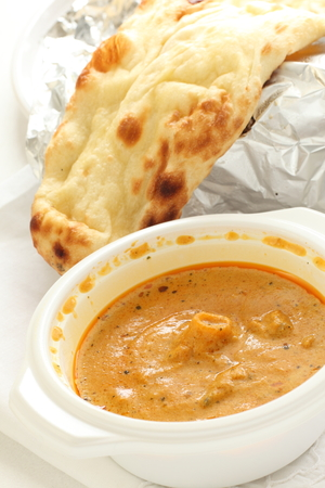 take out food: take out food, indian curry and nan