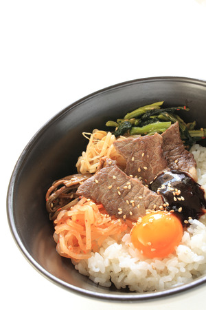 korean food: Korean food, barbeque beef and namul