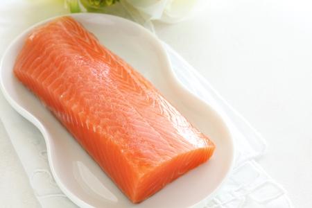 frescura: la frescura de color salmón sashimi japonés para Foto de archivo