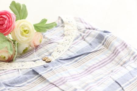 pijama: pijamas y flor Foto de archivo