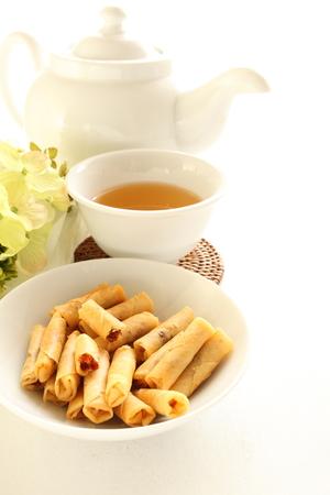 Stil: Thai food, meat roll