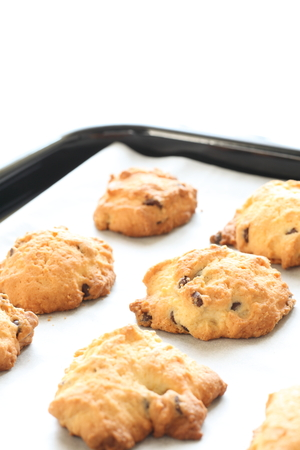chocolate chips: chocolate chips cookie Stock Photo