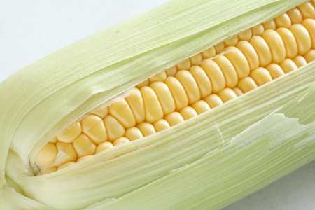 sweet corn: close up of sweet corn from Japan