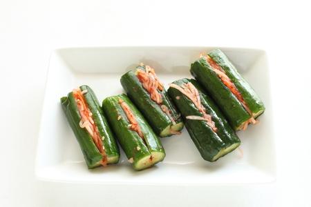 Korean food, cucumber Oi kimchi Stock Photo