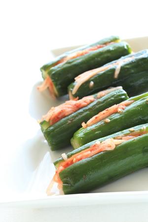 korean food: Korean food, cucumber Oi kimchi Stock Photo