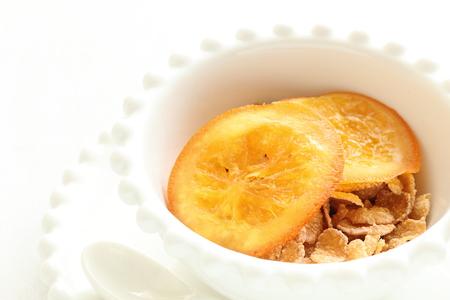 dried orange: dried orange and corn flake