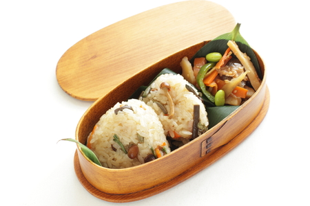 packed: rice ball packed lunch