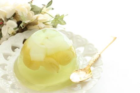 nata: grape and nata de coco jelly