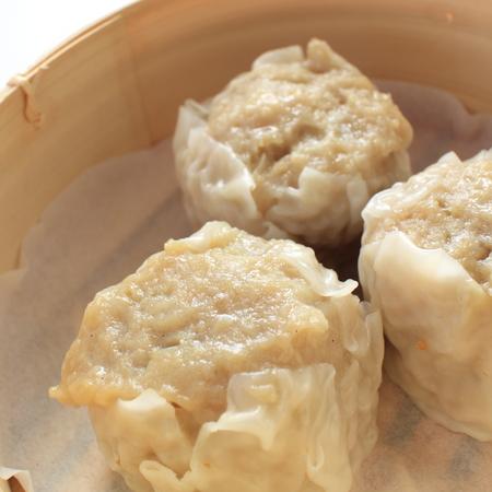 shu: Chinese dim sum, shumai Stock Photo