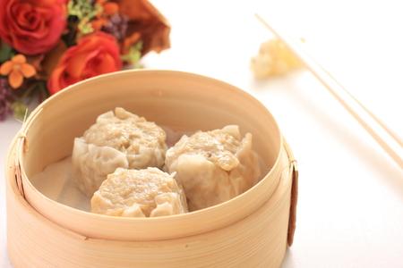 dim sum: Chinese dim sum, shumai Stock Photo