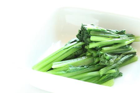 boiled: boiled Komatsuna Japanese vegetable