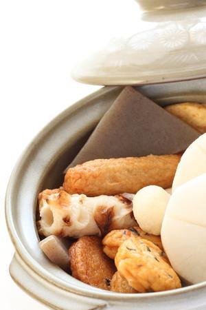 fish ball: prepared daikon radish and fish ball
