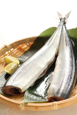 Japanese cooking, prepared pacific saury