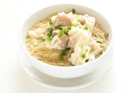 中華料理、餃子ワン タン麺 写真素材