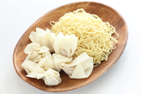 egg noodles: Chinese food ingredient, egg noodles and wonton